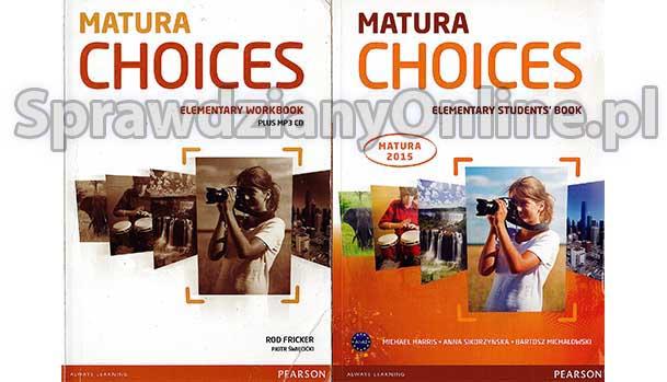 matura choices intermediate sprawdziany