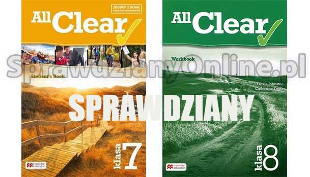 All Clear Testy Klasa 7, 8 Sprawdziany PDF 2020