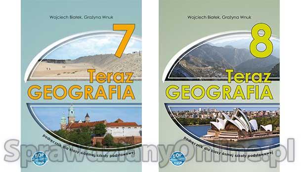 """""""Teraz geografia"""" 7, 8 Sprawdziany i odpowiedzi w PDF Pobierz"""