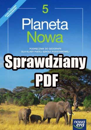 planeta nowa klasa 5 sprawdziany PDF